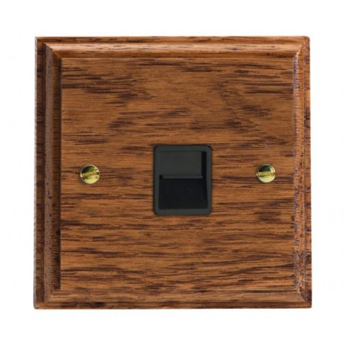 Varilight XKTSMOB Kilnwood Medium Oak 1 Gang Telephone Slave (Extension) Socket